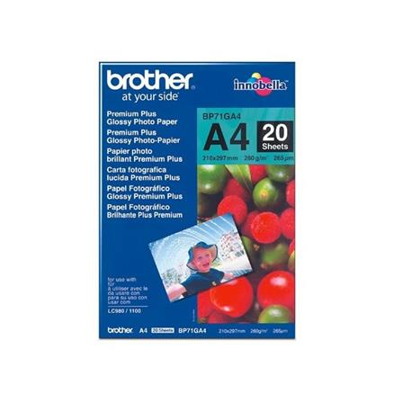 Brother papir A4 Glossy - 20-listov, 260 g/m2
